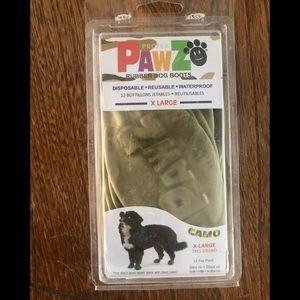 8 Pawz Dog Feet protectors XL tan camo